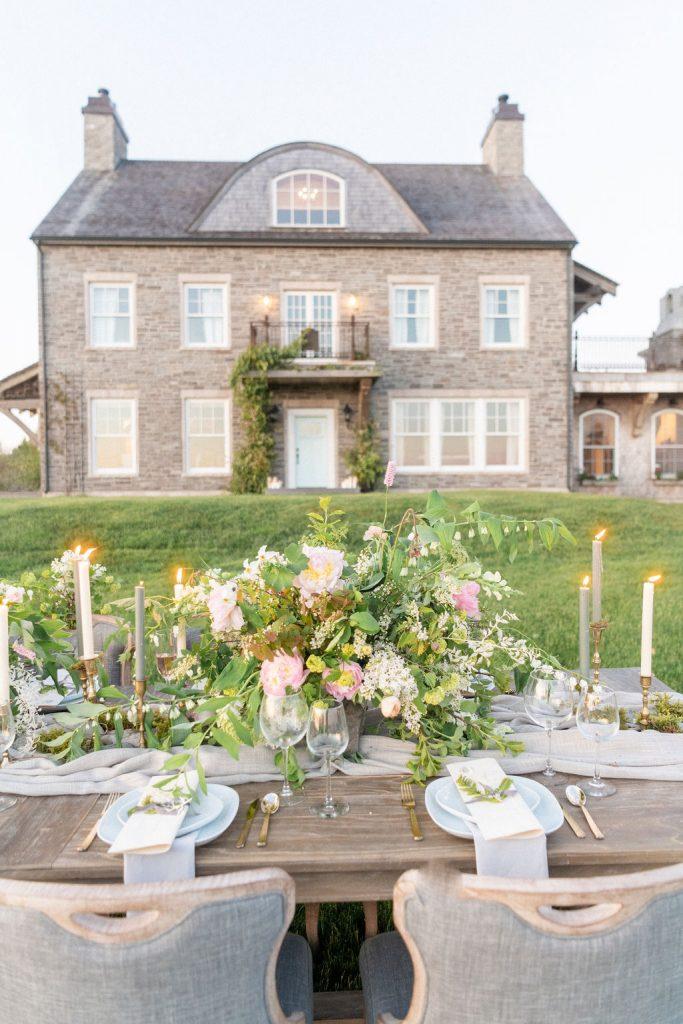 French Chateau styled venue Nova Scotia wedding