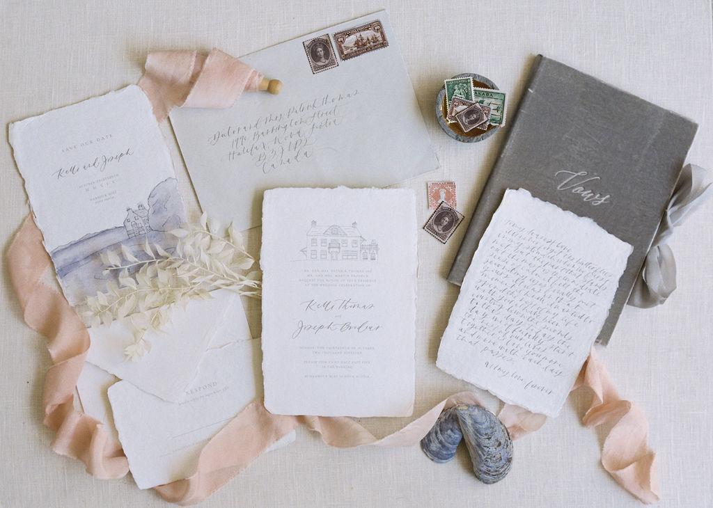 Wedding stationery inspiration - wedding shoot