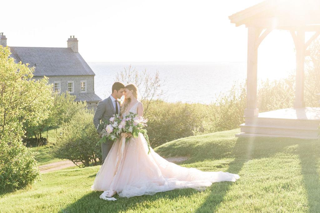 coastal Nova Scotia wedding shoot